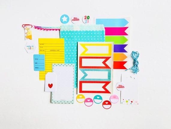 Polka Dots Journal Ephemera, Teal Blue Paper Ephemera, Stickers, Junk Journaling, Junk Journaling Supplies, Scrapbooking Ephemera Kit