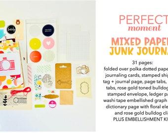 Perfect Moment, Fall Junk Journal, Mixed Media Journal, Junk Journaling, Smash Book, Creative Notebook, Mini Album, Scrapbook, Version 2.0