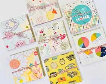 4 x 4 Journaling Cards, Scrapbooking Supplies, Mixed Media Supplies, Papercrafting Kit, Journal Cards, Paper Ephemera, Junk Journaling Kit