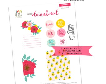 Hello Sunshine, Hello, Lazy Days, Good Times, Bloom, R&R, Hibiscus Flowers, Journal Cards, Journaling Supplies, Labels, Journaling Card