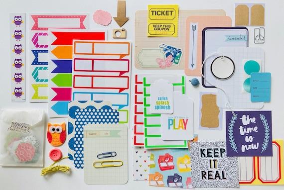 Ephemera Kit, Sticker Collection, Tags, Junk Journaling, Journaling Cards, Labels, Paper Ephemera, Scrapbooking Kit, Card Making,