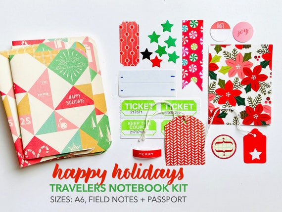 Christmas Travelers Notebook, Christmas TN Insert, Travellers Notebook, Field Notes Inserts, A6 Planner Insert, Refill Inserts, Planner