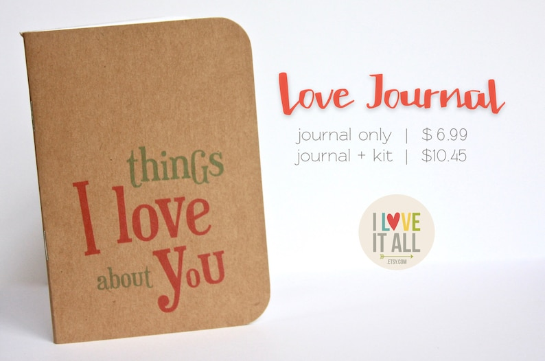 Things I Love About You Stocking Stuffer Coupon Book Journal Only