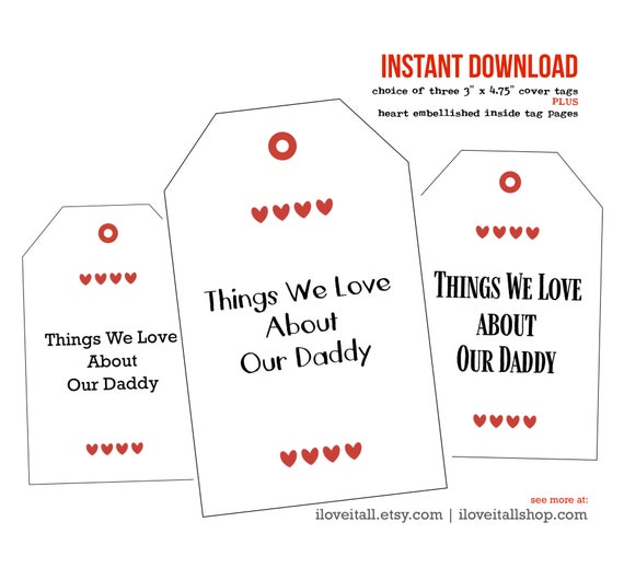 Last Minute Gift, Gift for Dad, Coupon Book Printable, Printable Vouchers, Gift from the Kids, Things We Love, Father's Day, Birthday Gift