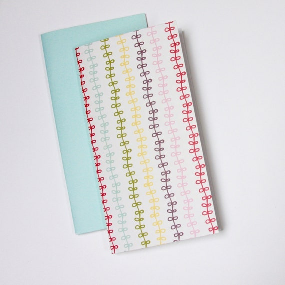 Notebook Jotter Sketchbooks, Set of 2, Pastel Ribbons, Travelers Notebook Inserts, Travel Journal, Midori Planner Insert, Chic Sparrow