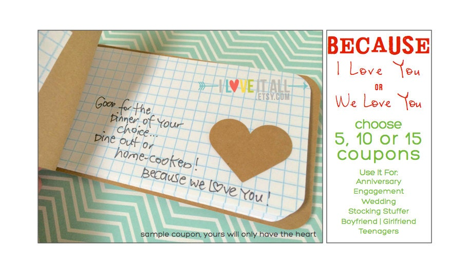 love coupon book for husband boyfriend girlfriend wife because i