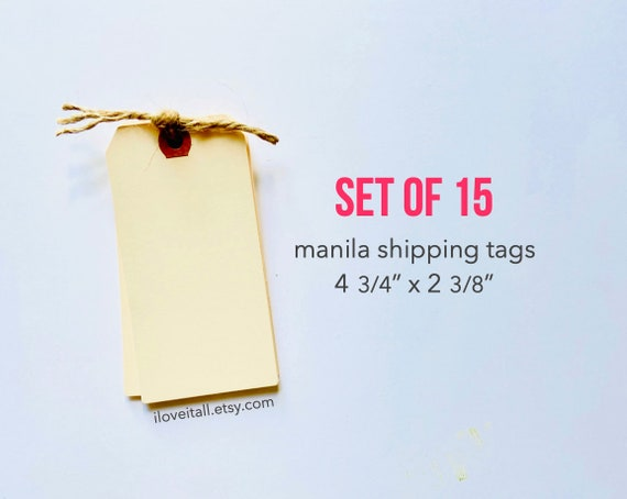 Manila Tag, Large Shipping Tag, Manila Shipping Tags, Media Shipping Tags, Manila Tag, Gift Tags, Hang Tag, Planner Supplies, Wedding, Tag
