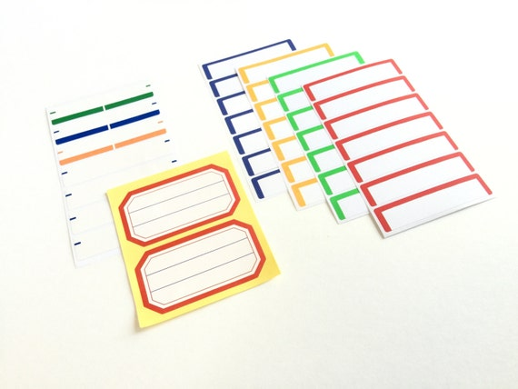 Blank Label Stickers, Planner, Travelers Notebook, Journal, Mini Album, Scrapbooking,  Label Stickers, Rectangle Sticker, Report Label