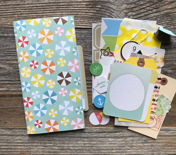 Smashbook Journal, Midori Insert, Travel Journal, Smash Book, Mixed Media Journal, Travelers Notebook Insert, Refill Insert, Planner Jotter