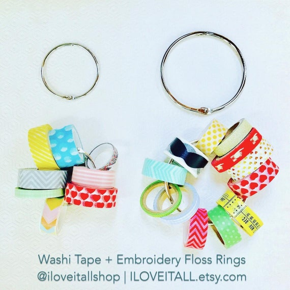 Washi Storage Ring, Snap Rings, Book Binder Rings, Three Inch, Two Inch, Split Rings, Hinges, One Inch Round Ring, Washi Tape Holder, Floss