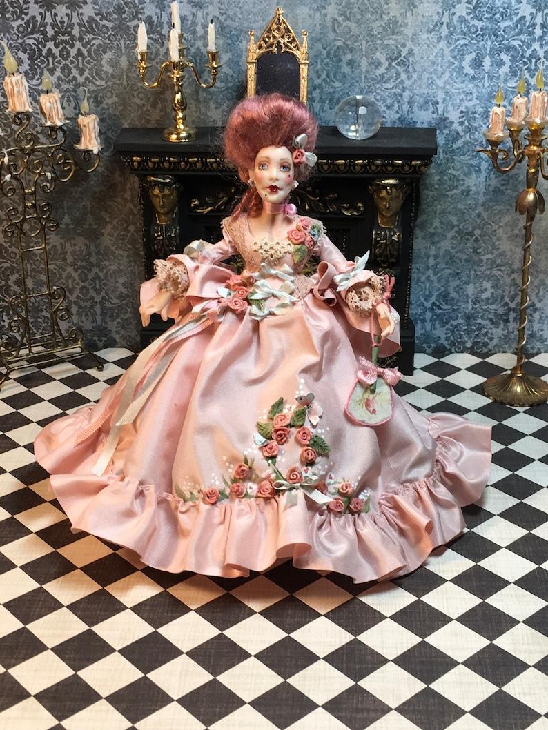 Miniature Doll Doll House Doll OOAK Miniature Justine 18th image 0