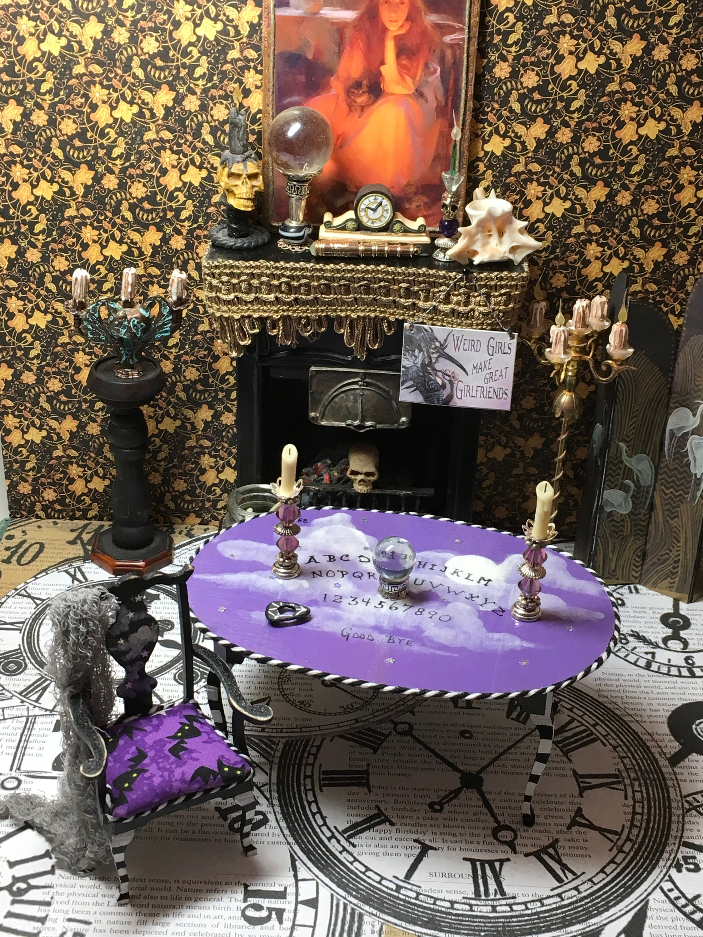 Halloween Halloween Miniature Furniture Witch Furniture | Etsy