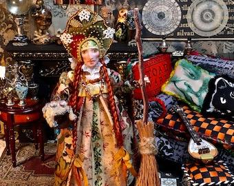 LoreleiBlu Miniature Original, Hand Made Miniature Doll, Halloween Miniature, Yelena The Russian Witch