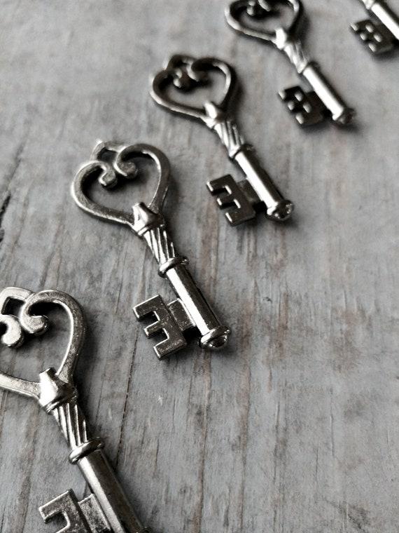 Antique Retro Steampunk Keys Greek Key Jewelry ANYTHING IS POSSIBLE Key Charms