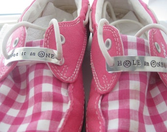 uk availability 5c6d4 9f497 Shoe Tag - Golf Shoe Tag - Talk Birdie to me, Hole in One, Got it in One,  Fore your name Golf Accessory - Golf Favor - Shoe Inspiration