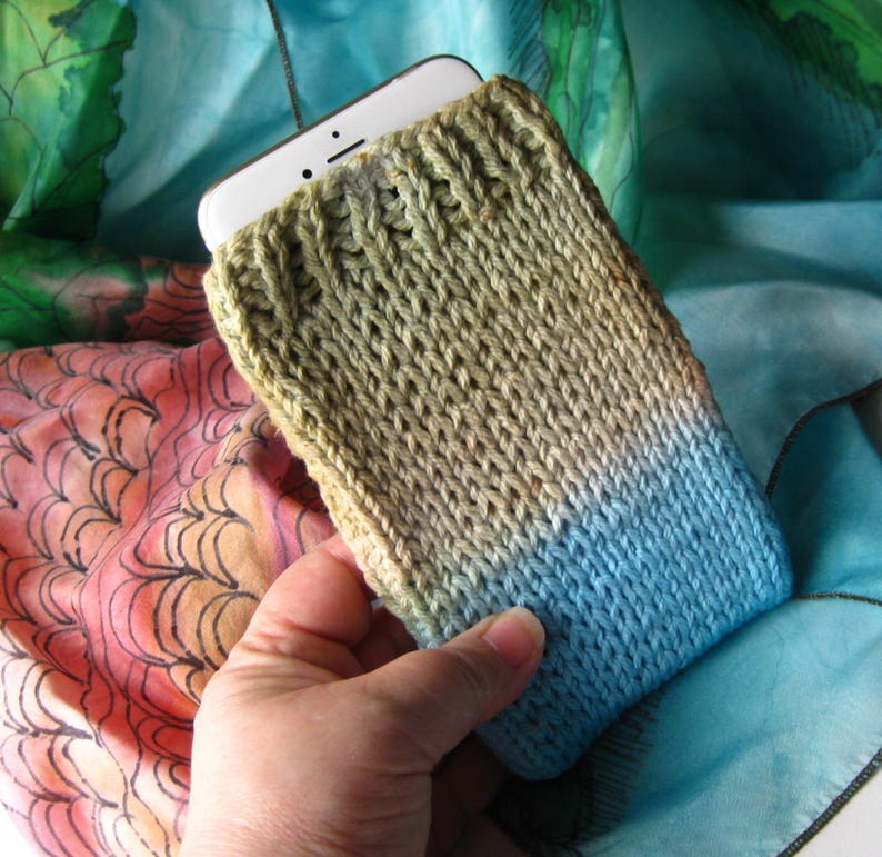 Dip Dyed Cell Phone Cover Last One iPhone Cell Cosy Galaxy Universal Sleeve Style Cell Phone Cover Case Hand Knit Cell Phone Sleeve