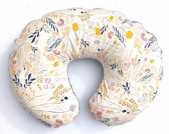Nursing Pillow Cover- WISPY DAYBREAK- floral pillow cover- floral cover- girl pillow cover- baby pillow cover