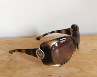 Vintage 90s Armani Exchange Sunglasses, Tortoiseshell Sunglasses, Vintage Designer Sunglasses, Women's Sunglasses