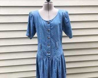 0cbfd16ca5 Vintage 90s Denim Dress