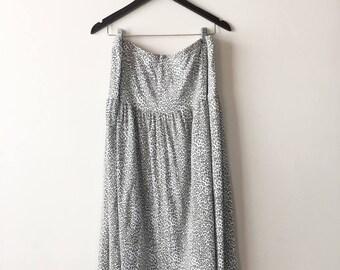 Vintage 90s Plus Size Leopard Print Skirt, Maxi Skirt, Animal Print Skirt, Long Skirt, Size 42