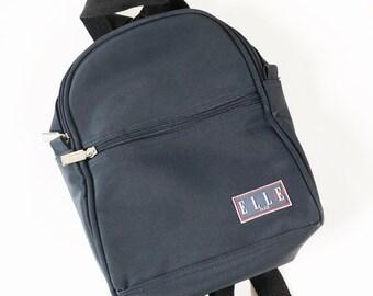 fdad1a2855 Vintage 90s Elle Paris Navy Blue Mini Backpack
