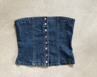 0e8f5fff5a Vintage 90s Blue Denim Bongo Jeans Tube Top