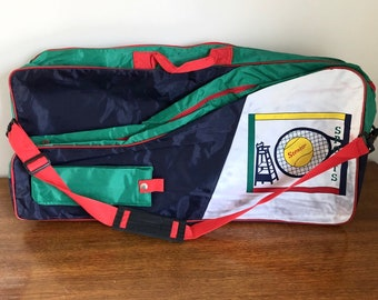 637686c13c Vintage 90s Colorblock Tennis Racket Bag
