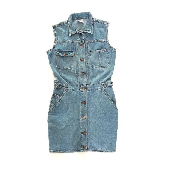 aliexpress big selection top design Vintage 90s Jordache Blue Denim Jumper Dress, Jean Dress, 90s Denim Dress,  90s Clothing, 90s Women's Clothing, Size L