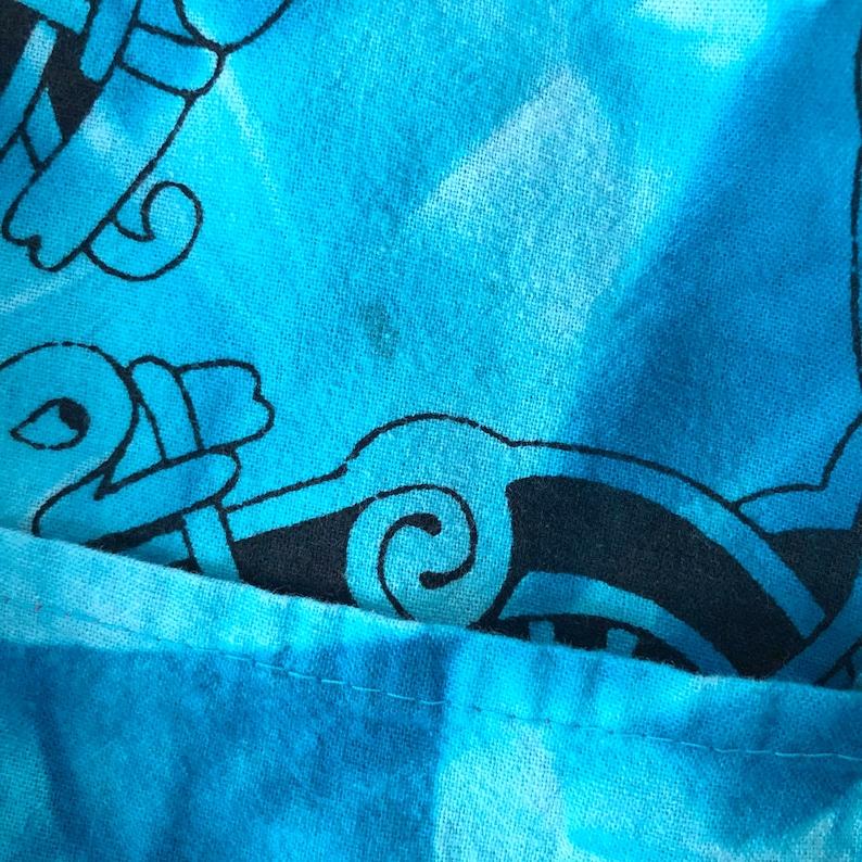 One Size Vintage Y2K Linen Oversized Tie Dye Kaftan Shirt