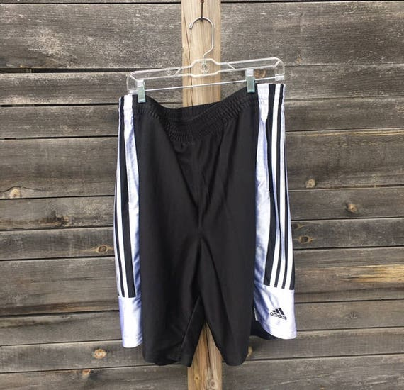 Vintage 90s Plus Size Black And White Mens Adidas Shorts Etsy