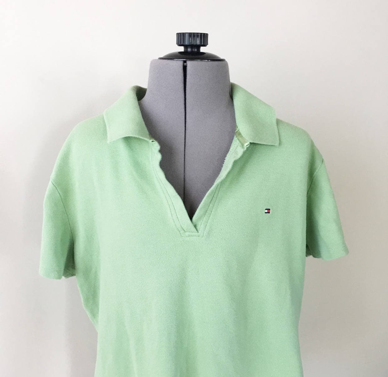 Vintage 90s Tommy Hilfiger Polo Shirt Mint Green Pastel Etsy