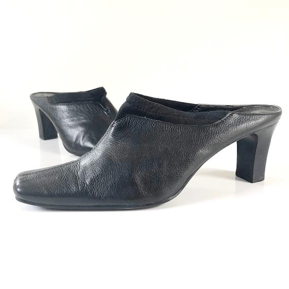 Vintage 90s Liz Claiborne Black Leather and Suede