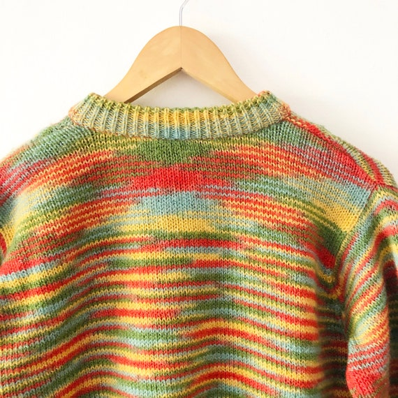 Vintage 90s Free People Cropped Rainbow Striped K… - image 5