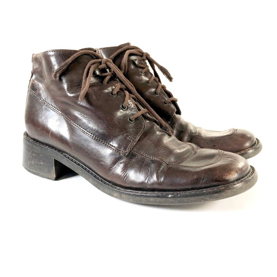 thoughts on 100% genuine new high quality Vintage Franco Fortini Women's Brown Leather Lace-Up Ankle Boots, Made in  Italy, Size 8-8.5