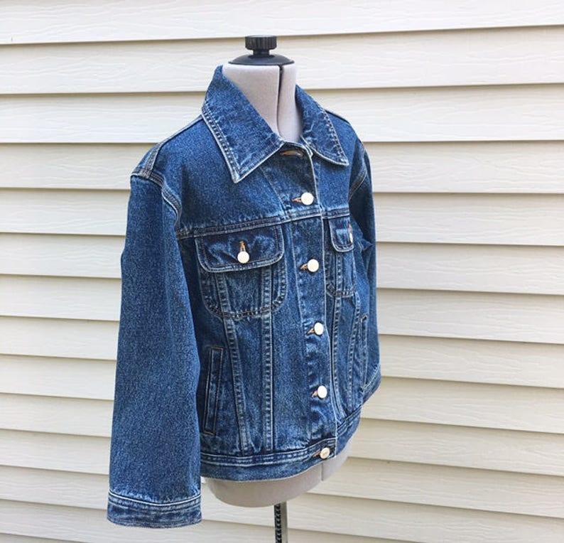 95a7c50a1d122 Vintage 90s Tommy Hilfiger Denim Jacket Tommy Jean Jacket