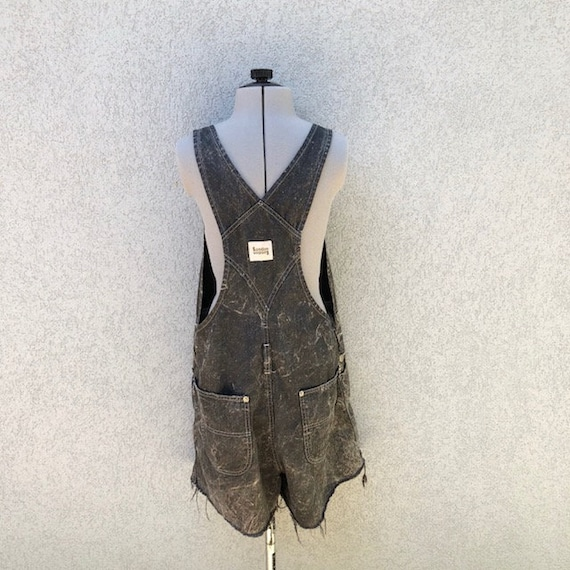 Acid M Denim Wash Shorts 90s Overalls 90s Retro 90s Black Clothing Size Unisex Overalls London Grunge amp; London Vintage 0wxXfSqUx