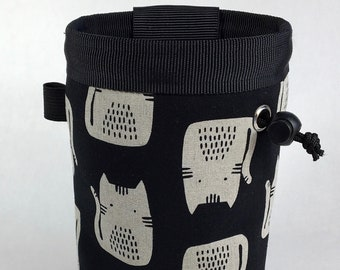 Chalk bag, Cats, Climbing Chalk Bag, Chalk bag Climbing, Rock Climbing Chalk bag, Climbing Gear, Black and White, Kittens