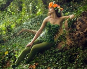 Poison Ivy costume corset- Mother nature- cosplay- fancy dress Halloween MADE TO ORDER