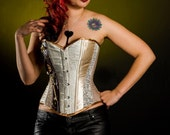 Steampunk corset. Victorian classic style wedding corset. Gothic clothing. MADE TO ORDER