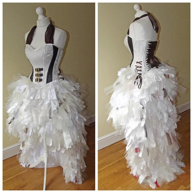 cd87ec52ade Steampunk punk alternative wedding dress  prom sexy corset
