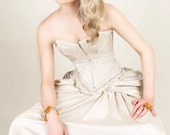 Steampunk wedding dress- alternative wedding dress- victorian wedding dress- prom dress- MADE TO ORDER