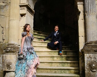 Bespoke wedding dress. Alternative corset dress / prom. Cinderella. Custom MADE TO ORDER colours of your choice