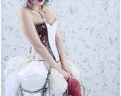 Steampunk wedding dress- alternative wedding dress- steampunk prom. MADE TO ORDER