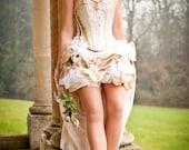 Steampunk wedding dress- alternative wedding dress- steampunk prom- MADE TO ORDER