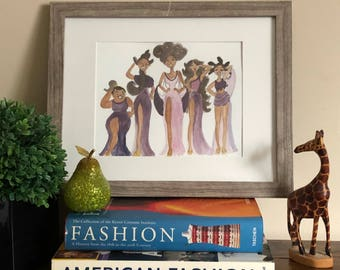 The Muses Hercules- African American Wall Art, Disney Theme Art, The Muses Disney, Fashion Illustration, Black Art work by LeMahogany Art