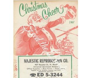 Vintage Santa Advertisement 1967 Christmas Ephemera Digital Download