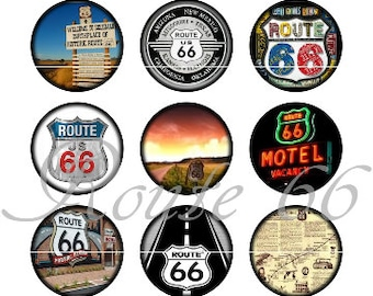 shabby worn Magnetic Shield chic route 66 II Fridge Magnet old
