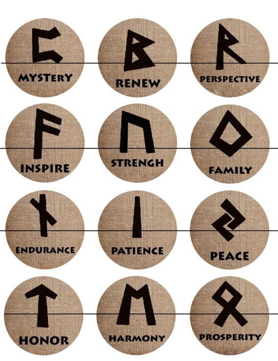 Runes Magnets Pins Devination Oracles Norse Pagan Symbols Etsy