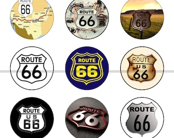 Route 66 Magnets Pins Gift Sets Fridge Magnets