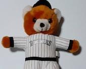 Colorado Rockies bear plush, Steven Smith Sports Enterprises, Denver baseball fan, Fathers Day gift, man cave decor